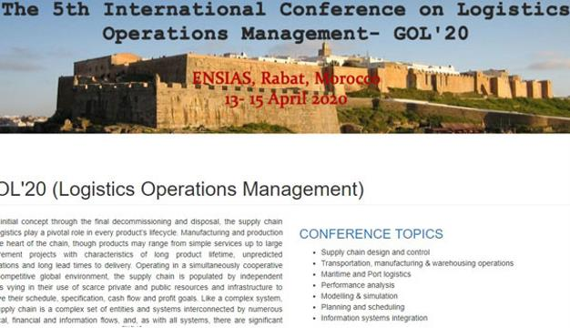5th International Conference on Logistics Operations Management GOL 2020